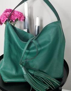 Vittoria Napoli leather bucket shoulder bag